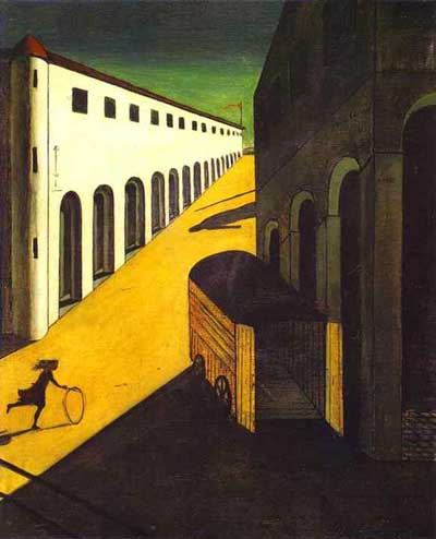 Giorgio de Chirico - Mystery and Melancholy of a Street - 1914