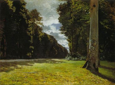 Monet - The Road to Chailly in the Forest of Fontainebleau